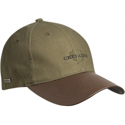 Chevalier Cotton Cap Faux-Leather Brim - šiltovka