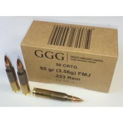 GGG 223 Rem FMJ - guľovnicové náboje