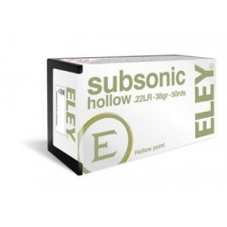 ELEY Subsonic Hollow 22 LR